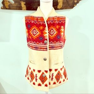 Orvis southwestern style vest size XS